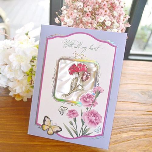 12000 카네이션카드 브로치 프리티 b 나비 어버이날카드 스승의날카드