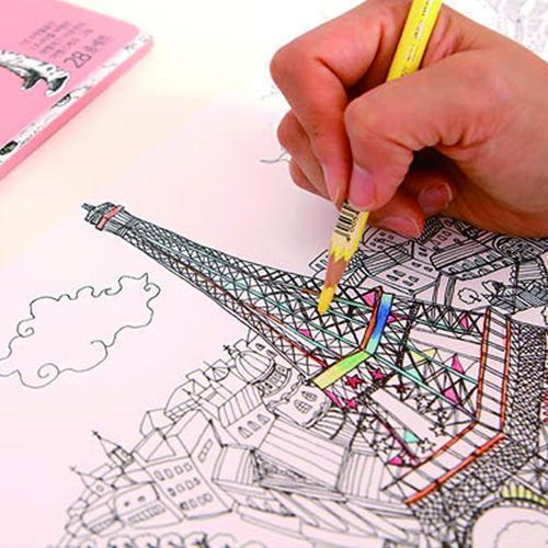 아이윙스 컬러링페이퍼 유럽여행 색칠공부 컬러링북 3d입체퍼즐사은품