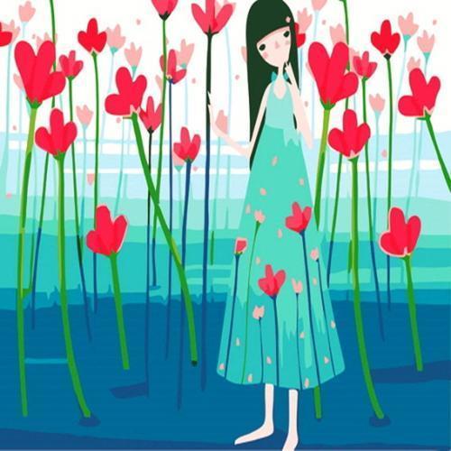 아이윙스 피포페인팅 a88 꽃과소녀 30x40 diy명화그리기 셀프페인팅