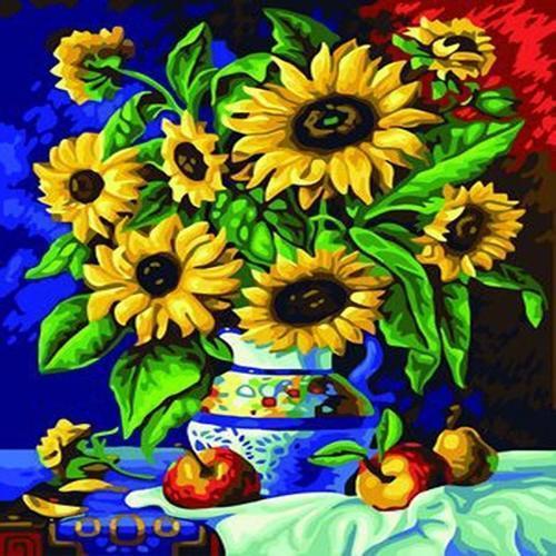 아이윙스 40000 피포페인팅 b145 해바라기꽃병 diy명화그리기 diy그림그리기