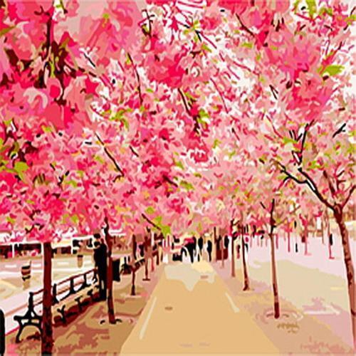 아이윙스 40000 피포페인팅 b389 만개한 벚꽃나무 diy명화그리기 diy그림그리기