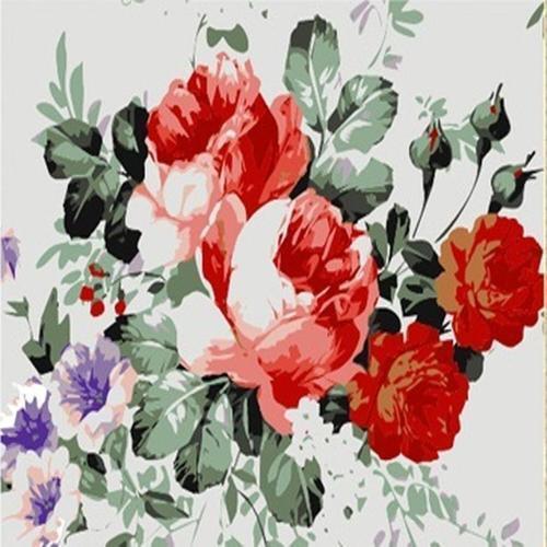 아이윙스 35000 피포페인팅 e093 나팔꽃과 장미 diy명화그리기 diy그림그리기