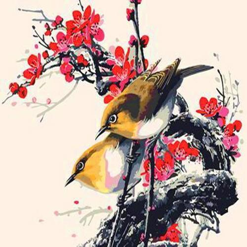 아이윙스 35000 피포페인팅 b79 참새와매화 diy명화그리기 diy그림그리기
