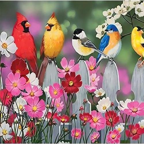 아이윙스 35000 피포페인팅 q4024 노래하는 새와 코스모스 diy명화그리기 diy그림그리기