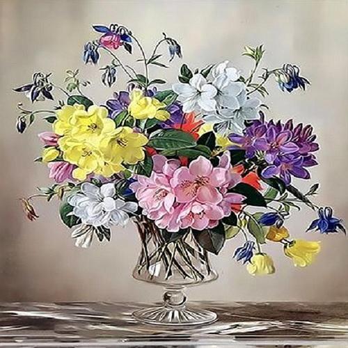 아이윙스 45000 피포페인팅 q4016 꽃정물화 diy명화그리기 diy그림그리기