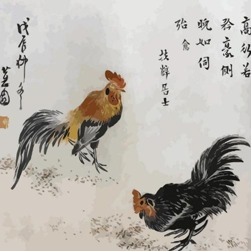 아이윙스 피포페인팅 q1341 신윤복 닭 diy명화그리기 diy그림그리기