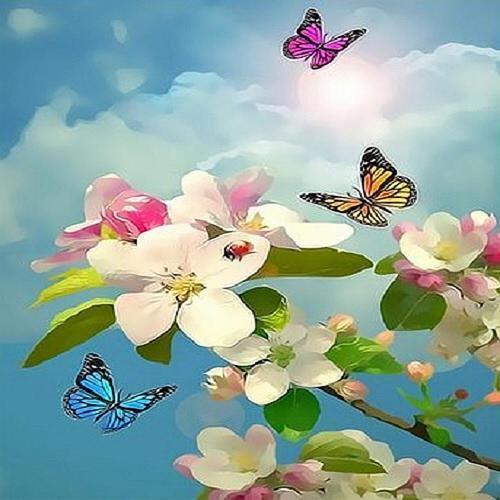 아이윙스 피포페인팅 q4121 봄테마시리즈 diy명화그리기 diy그림그리기