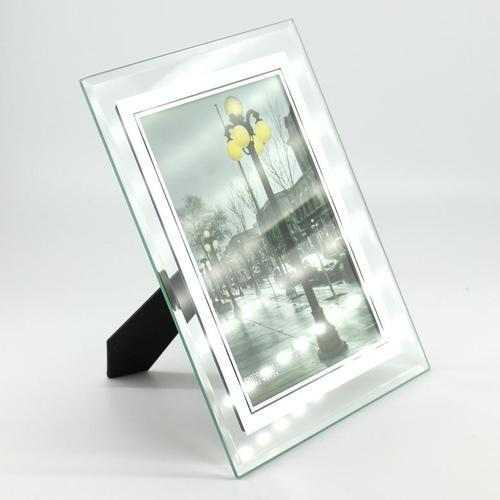 아이윙스 유리 고급액자 5X7inch 사진액자 탁상용 벽걸이용