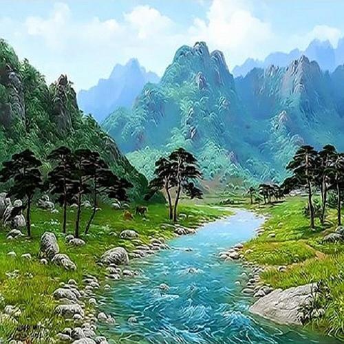 아이윙스 피포페인팅 Q3425 여름테마시리즈 DIY명화그리기 DIY그림그리기