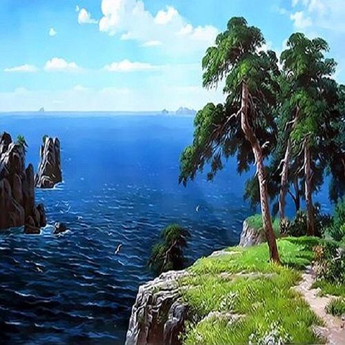 아이윙스 피포페인팅 Q3426 여름테마시리즈 DIY명화그리기 DIY그림그리기