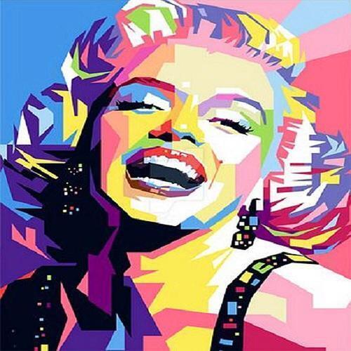 아이윙스 피포페인팅 Q3434 팝아트 마릴린먼로 DIY명화그리기 DIY그림그리기