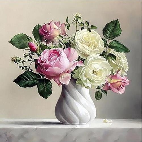아이윙스 피포페인팅 q3441 꽃화병시리즈 diy명화그리기 diy그림그리기