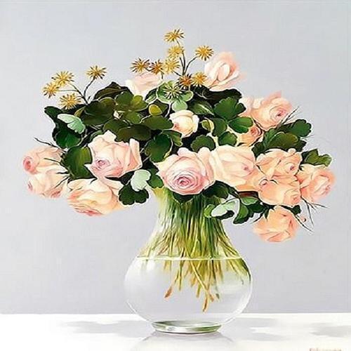 아이윙스 피포페인팅 q3442 꽃화병시리즈 diy명화그리기 diy그림그리기