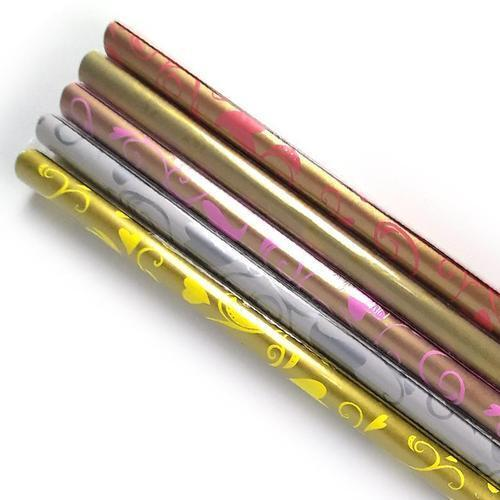 아이윙스 롤포장지 하트덩굴무늬 53cm x 75cm 5개입 선물포장지