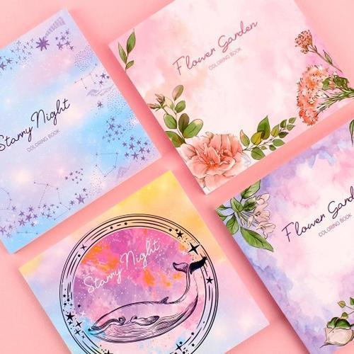 아이윙스 5000 앨리스 꽃 동식물 디저트 소품 감성 컬러링북 색칠공부