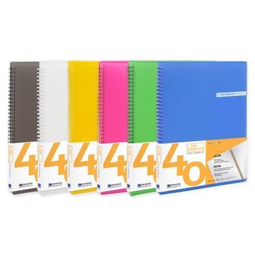 아이윙스 6000 희망 아이콘 스프링 클리어화일 40매 파일철