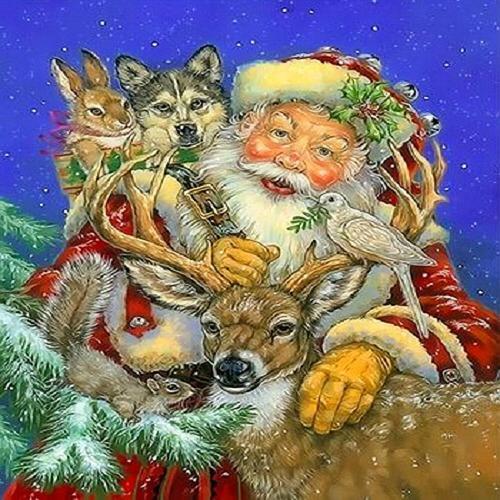 아이윙스 피포페인팅 Q3321 산타와친구들 DIY명화그리기 DIY그림그리기