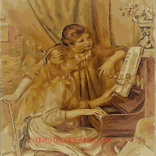아이윙스 피포페인팅 K057 Renoir 피아노치는소녀들 DIY명화그리기 DIY그림그리기