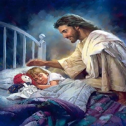 아이윙스 피포페인팅 Q3616 잠자는 아이와 예수 DIY명화그리기 DIY그림그리기