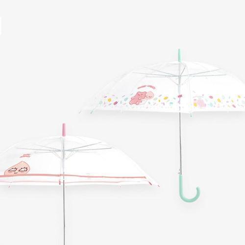 아이윙스 9800 카카오프렌즈 스윗어피치 투명우산 장우산 자동우산
