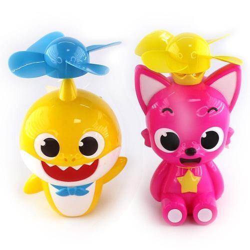 아이윙스 5000 바스락 핑크퐁 아기상어 붕붕 휴대용 미니 손선풍기 무동력 자가발전