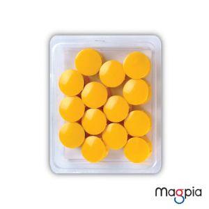 칼라원형자석(대)32mm*노랑
