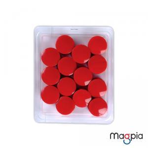칼라원형자석(대)32mm*빨강