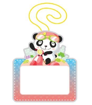 유아용 끼움식 명찰(팬더)
