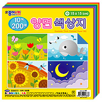 5000 양면색상지 색종이(中)