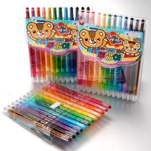 4000(지구)투명이색연필12색