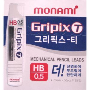 300(모나미) HB샤프심(0.5mm)*12본