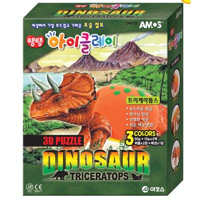 3D 공룡시리즈 점토(트리케라톱스)