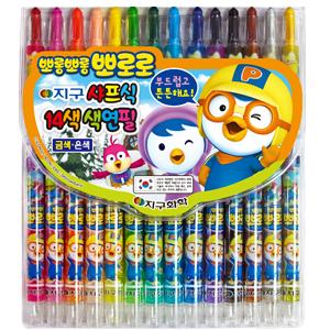 뽀로로 샤프식색연필(14색)