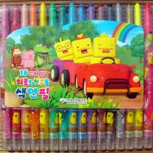 치로와친구들 색연필 16색