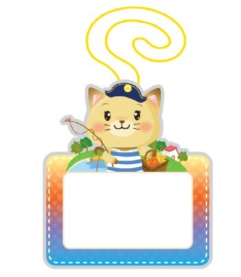 유아용 끼움식 명찰(고양이)