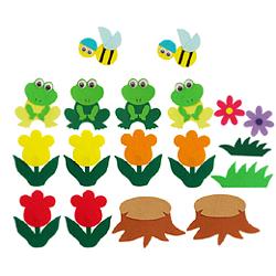 펠트소품-개구리봄나들이(중)