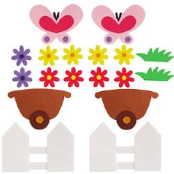 펠트소품-꽃마차(중)