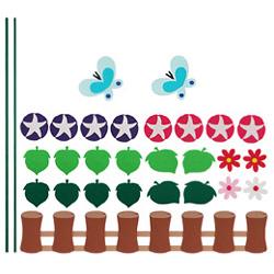 펠트소품-나팔꽃울타리(대)