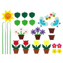 펠트소품-봄꽃화분(대)
