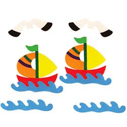 환경꾸미기소품-배와갈매기(소)