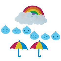 펠트소품-비와우산(중)