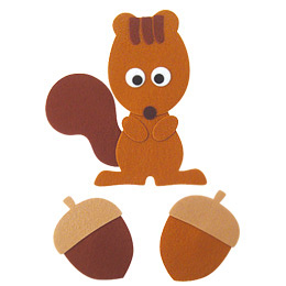 펠트소품-다람쥐