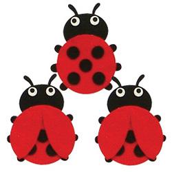 반짝이펠트소품-무당벌레