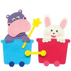 반짝이펠트소품-하마,토끼기차