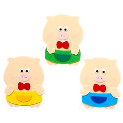 반짝이펠트소품-돼지삼형제