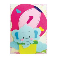 반짝이펠트소품-기구탄코끼리