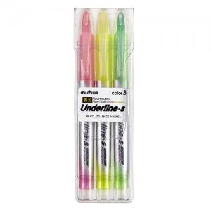 언더라인 에스(3색)형광펜