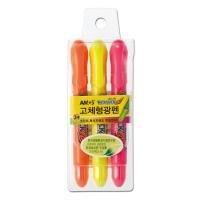 2100 네오스틱 고체형광펜(3색세트)