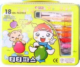 18색티티크레파스(비닐)