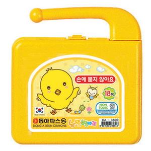 [동아]노랑병아리 크레용 (18색)